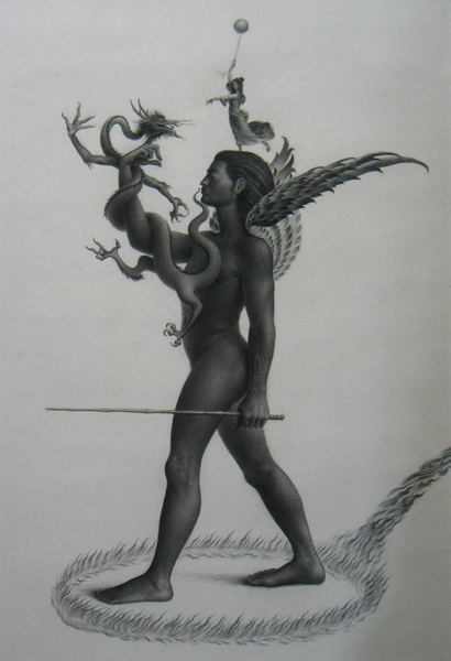 Son of Heaven  23x37 charcoal on paper 2003