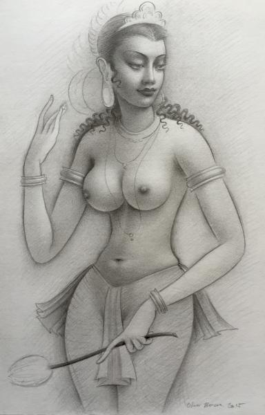 Apsara (with Lotus)